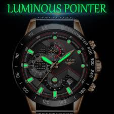 <b>2019 New LIGE Black</b> Casual Mesh Belt Fashion Quartz Gold Watch ...