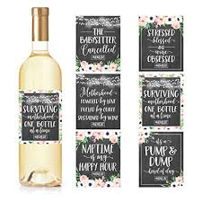6 chalk mommy s first milestone stickers or wine labels great baby shower gift ideas for