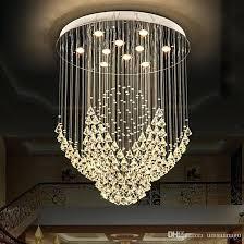 crystal light fixtures crystal chandeliers led modern chandelier lights fixture flower home indoor lighting hotel hall lobby drop light round hanging lamps
