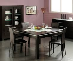 plain square dining table with decorating