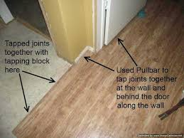 how to lay laminate wood floor around door jambs home plan