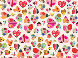 heart pattern wallpaper. Brilliant Wallpaper Heart Pattern Wallpaper Mural To S