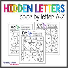 Color by letter is an excellent way to help your children learn their alphabet. Color By Letters Worksheets Teaching Resources Tpt