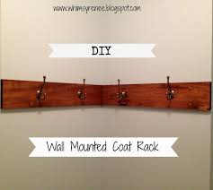 Wall Coat Rack Ideas Awesome Whimsy Renee Diy Wallmounted Coat Rack Image Of Wall Mounted 33