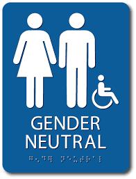 bathrooms signs. Gender Neutral Handicap Restroom Signs - 6x8 Bathrooms