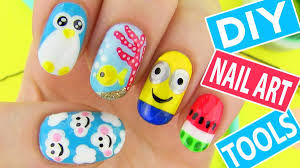 DIY Nail Art Tools with 5 Easy Nail Art Designs! How to Paint your ...