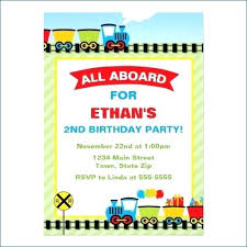 Best Train Birthday Party Invitations Images On Invitation Templates
