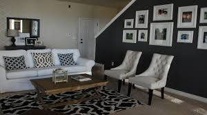 Dark Blue Accent Wall Black With Living Room Ddadab