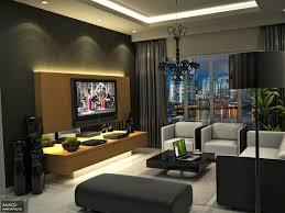 Interior Apartment. Modern Apartment Interior Design Ideas. Dark Themed Modern  Apartment Interior Living Room
