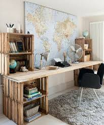 home office world. cover a wall in your home office with large map of the world or some digsdigs