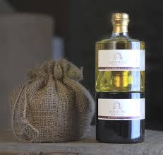 stacked blood orange olive oil and aged balsamic vinegar food gift delivered stacked olive oil