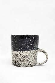 speckled mug black ceramic paintingceramic