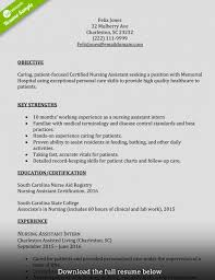 Certified Nursing Assistant Resume Samples Cover Letter Sample Ob