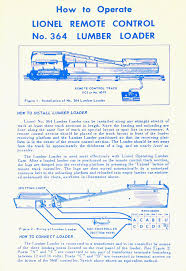 lionel trains 364 conveyor log loader accessory Lionel 2046W Wiring-Diagram no 364 85 instruction sheet dated 8 54