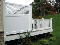 low maintenance 6 deck privacy panel with lattice top panels outdoor screen canada