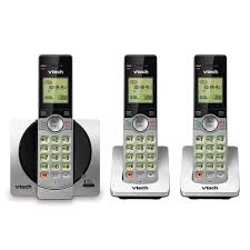 3 handset cordless phone with caller id call waiting