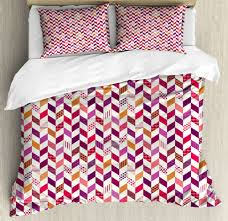 details about patchwork duvet cover set king size colorful herringbone with 2 pillow shams