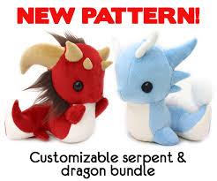 Plush Pattern Mesmerizing New Dragon Serpent Pattern Bundle