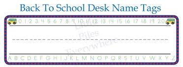 school desk name tags printable free
