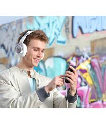 motorola pulse max headphones. motorola pulse max over ear wired headphones with mic (white)