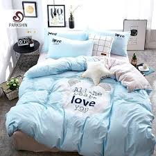 blue bed spread bedding sets linen cotton comforter duvet cover double bed sheet light blue bedspread