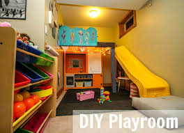 Image Kid Friendly Turn Small Space Into Fun Organized Playroom With Natashamillerweb Basement Ideas For Kids Natashamillerweb