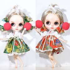 Blythe Doll Size Chart Cute Flower Printed Skirt Amp Decorative Clips For Blythe Doll Dress Up Accessory Girl Gifts China Dolls Girls Toy Dolls From Diangame 20 96