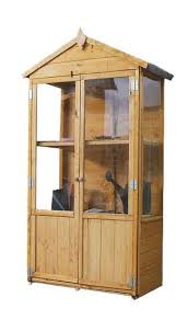mercia wooden small greenhouse