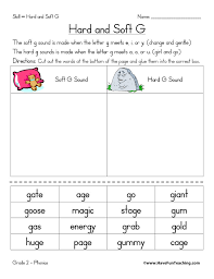 However, here is a worksheet that makes the point that the letter g represents two different sounds. Hard G And Soft G Worksheet Have Fun Teaching