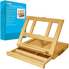 com us art supply solana adjule wood desk table easel with storage drawer premium beechwood