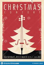 Christmas Concert Poster Christmas Concert Retro Poster Design Stock Vector Illustration Of