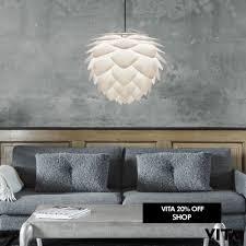 details about vita copenhagen lighting large white silvia pendant lamp shade artichoke 45 cm