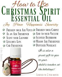 Young Living Oil Usage Chart How To Use Christmas Spirit Essential Oil Rebooted Mom