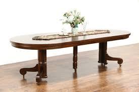 round quarter sawn oak 1900 antique 45 pedestal dining table 4 leaves