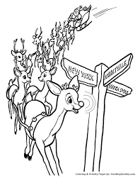 Small Picture Rudolph the Red Nose Reindeer Coloring Page Rudolphs Nose