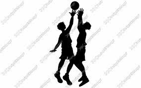 バスケットボール ピポットターン クリップアート年賀状戌年の年賀状