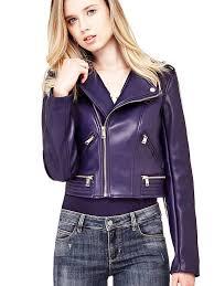 blue coated look jacket guess coats jackets w81l68w9kp0