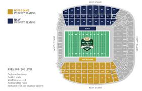 Notre Dame Stadium Detailed Seating Chart Notre Dame Football Stadium Seating Chart Notre Dame
