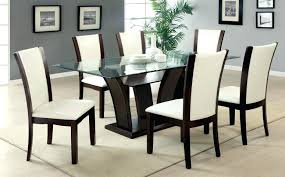 dining table chairs leather. full image for ivory leather dining room chairs table and rounded