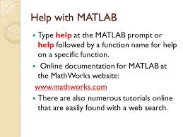 introduction to matlab the language of technical computing ppt 26 help