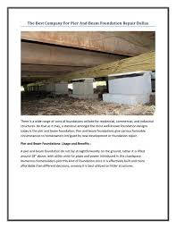 Pier And Beam Foundation Design Pier And Beam Foundation Repair Dallas By