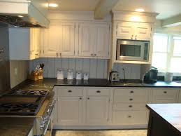 warm colors scheme kitchen design with antique white wooden elegant l shaped finish farmhouse cabinets eased