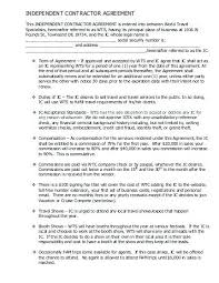 Independent Contractor Agreement Template Images Of Contract ...