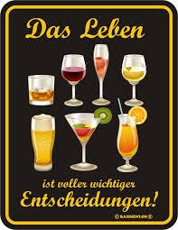 Alkohol Das Leben Ist Voller Blech Schild Spruch Fun Schilder