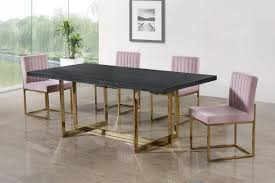 Meridian Elle Giselle Pink Gold 5 Piece Dining Table Set Reviews
