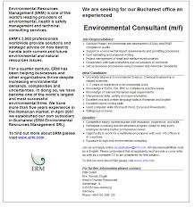 Environmental Consultant M F Erm Gmbh Apply On Ejobs