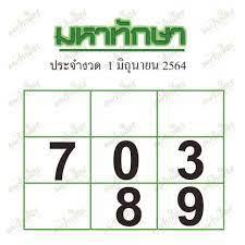 2งวดติดทีเด็ดเลขเด็ดแม่นๆจาก หวยซอง หวยมหาทักษา งวด 1 มิถุนายน 2564