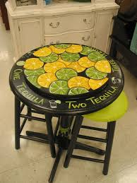 tropical painted furniture. just finished new table hand painted one of a kind find it at tropical furniture