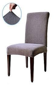 subrtex d jacquard stretch dining room chair slipcovers 4 gray checks new