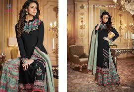 Salwar Kameez Designs Catalogue Free Download Arihant Rangrez Gold Georgette Plazzo Style Salwar Kameez